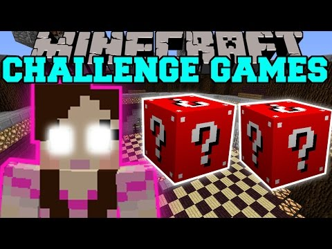 Minecraft: GAMINGWITHJEN CHALLENGE GAMES - Lucky Block Mod - Modded Mini-Game