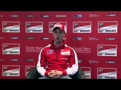 Presentazione team Ducati MotoGP 2014 intervista Andrea Dovizioso
