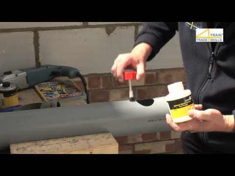 Attaching A Boss Strap To A Soil Pipe Youtube