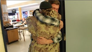Military Mom Surprises Son at School