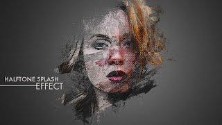 Halftone Splash Effect - Photoshop Tutorial