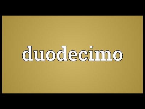 Header of duodecimo
