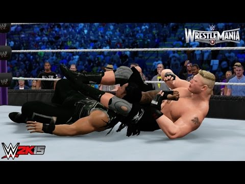 Wwe 2k15 Wrestlemania 31 Main Event: Brock Lesnar Vs Roman Reigns - Wwe World Heavyweight Title! video