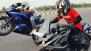 Yamaha R15 V3 VS PULSAR RS200 RACE | TOP END | Highway Battle