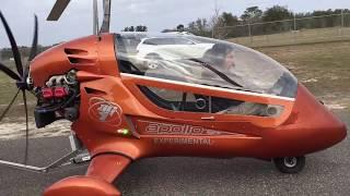 Gyroplane rotor blade testing by a Greg Spicola at Zephyrhills Florida