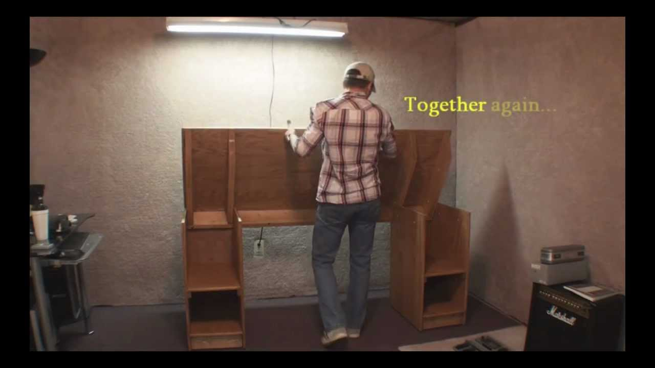How To Build A Home Recording Studio Desk Step By Step