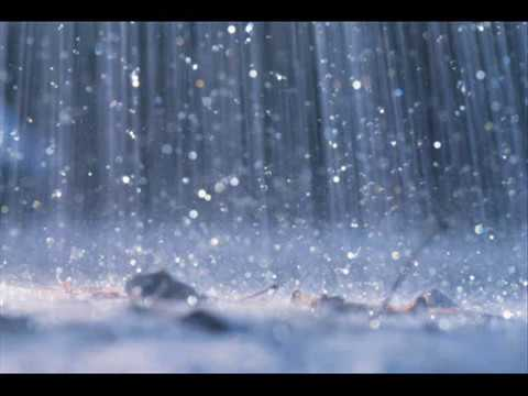 The sound of rain w/o music