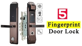 5 Best Fingerprint Door Lock To Buy In 2019 | Smart Door Security