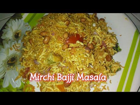 Mirchi Bajji Masala l Street Food Bajji Masala l Mirapakaya Bajji tho Borugula Masala in Telugu