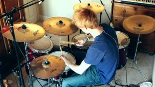 Falling Away With You - MUSE Drum Cover (with Mics)