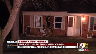 Police chase ends with dramatic crash