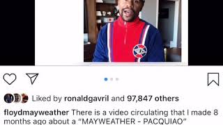Floyd Mayweather Reveals Got 2.2 Million To Do video Talking Pacquiao Rematch