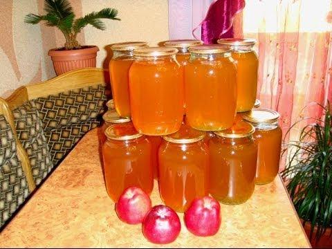 Как приготовить яблочный сок - видео