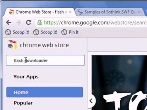 How To Download A Swf File Chrome