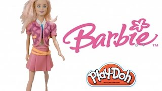 Play Doh craft. Barbie princess dress up for School HD