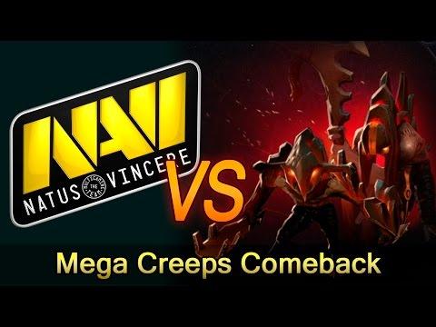 NaVi epic Mega Creeps Comeback vs HR