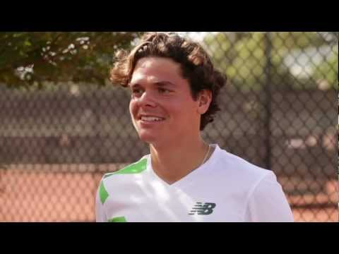 Tennis Pro Milos Raonic's bloopers from New Balance interview