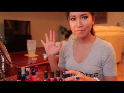 Видео как красиво накрасить ногти
