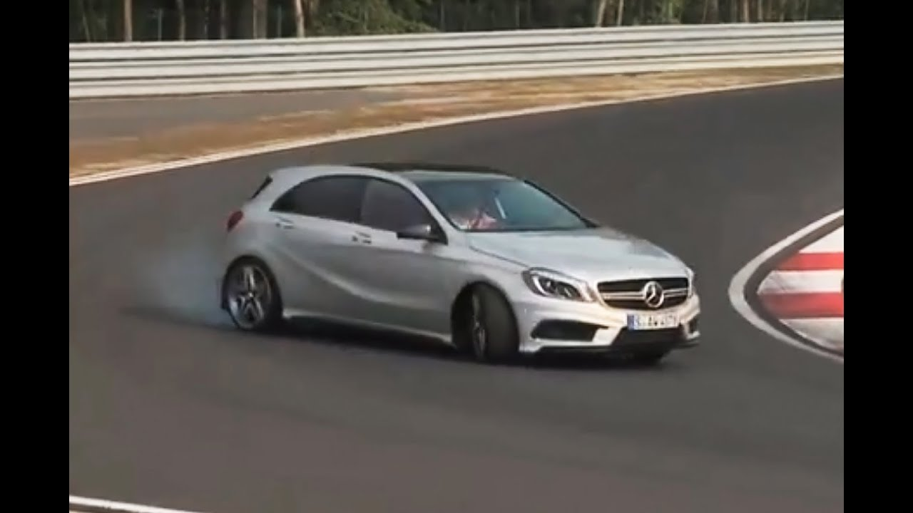 355bhp mercedes a45 amg driven flat out. Black Bedroom Furniture Sets. Home Design Ideas