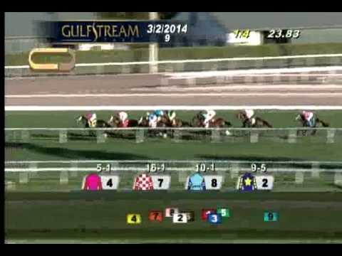 Gulfstream Park: Race 9 - The Herecomesthebride G3   March 2, 2014 video