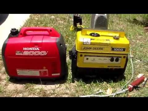 Honda EU2000i vs John Deere / Kawasaki GA 1000 sound comparison