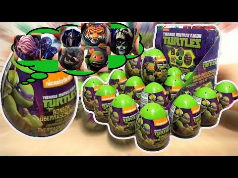 Teenage Mutant Ninja Turtles 2 TMNT Movie Nickelodeon 18 Kinder Surprise Eggs