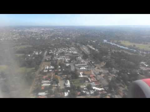 Air Asia Flight Landing in perth from Bali