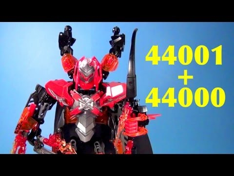 LEGO 44001 Pyrox + 44000 Furno XL Hero Factory Brain Attack Technic Combi Review