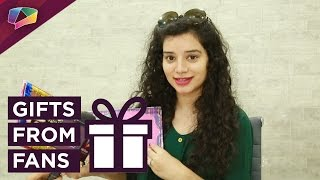 Sukirti Kandpal receives gifts from her fans