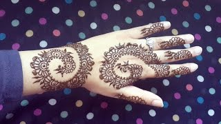 Henna Swirls Design - Easy Arabic Mehendi - Simple and Elegant Mehndi Tattoo