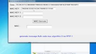 generate message Auth code mac algorithm 3 iso 9797-1