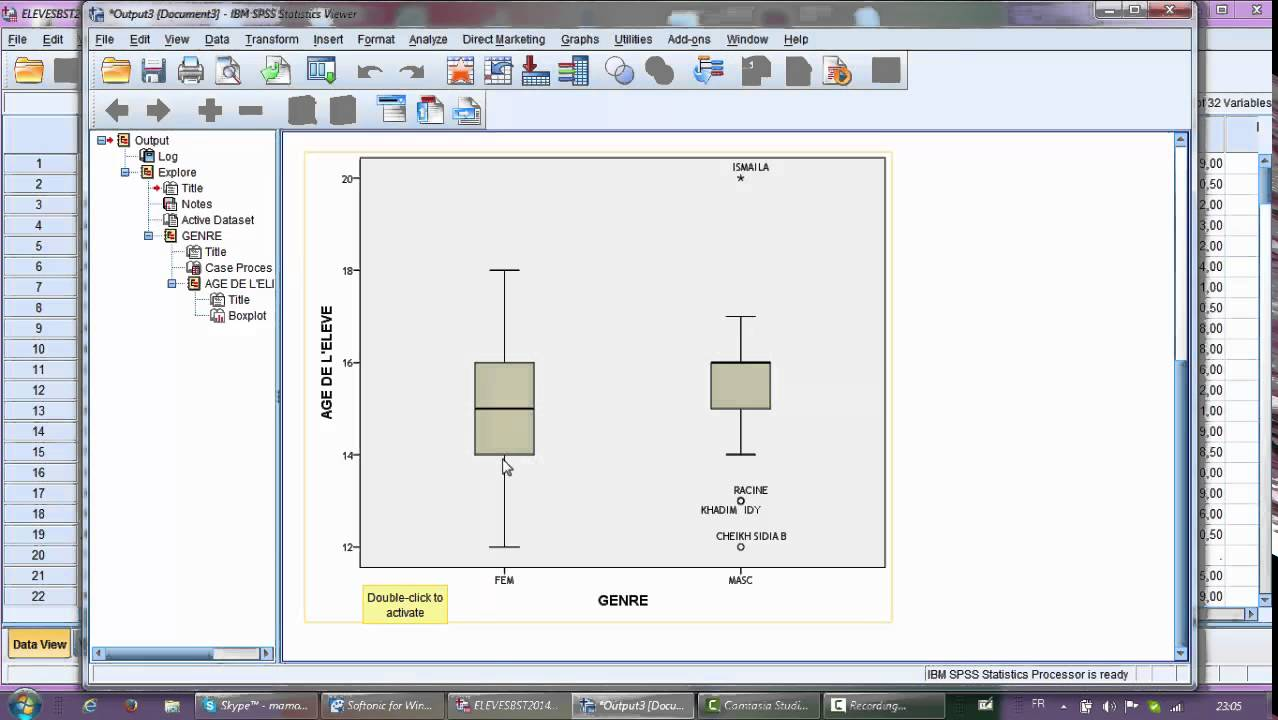 how to make a boxplot on spss