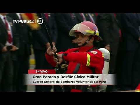 Los Bomberos participan de la Gran Parada Militar