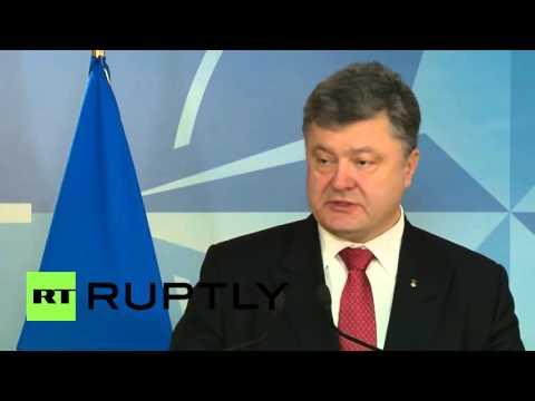 Belgium: Poroshenko and NATO's Stoltenberg discuss Ukraine conflict