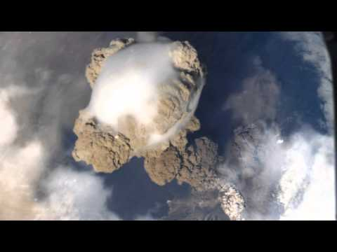 VOLCANO CAPTURED FROM THE INTERNATIONAL SPACE STATION