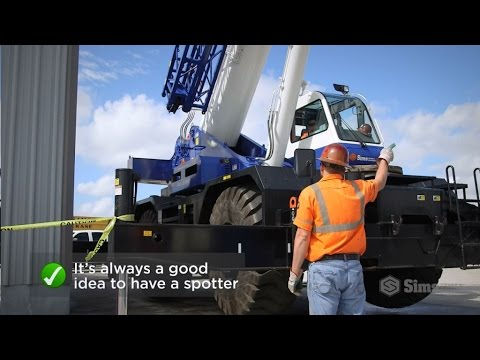 Sims Crane Minute - Backing and Swinging for Mobile Crane Operations