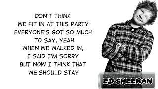 Ed Sheeran - I Don't Care (Acoustic) [Lyric Video]