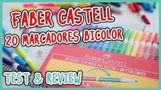 FABER CASTELL 20 MARCADORES = 40 COLORES (Test & Review)