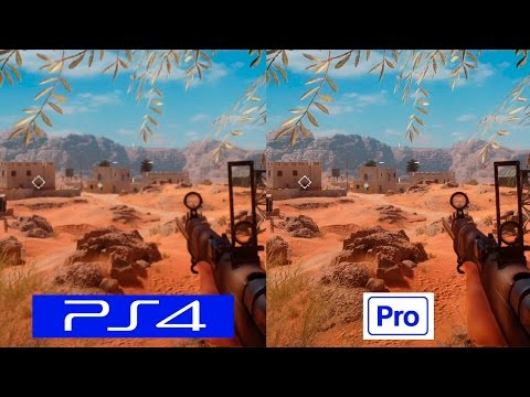Battlefield 1 | PS4 VS PS4 PRO | COMPARISON | Comparativa