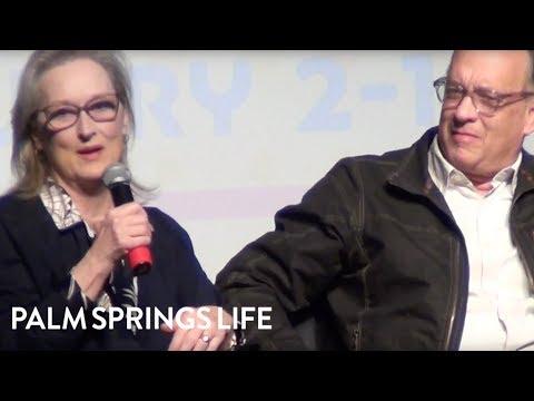 Tom Hanks, Meryl Streep, And Steven Spielberg Discuss The Post Movie | PALM SPRINGS LIFE