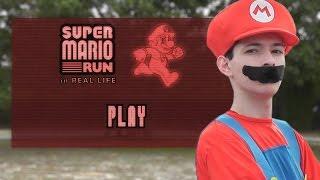 SUPER MARIO RUN in REAL LIFE !?