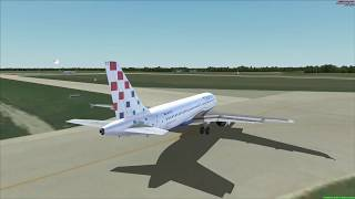 realistic Flight Simulator X FOR ENTHUSIASTS ! From Munich to Pula, Croatia A320, taxing and takeoff