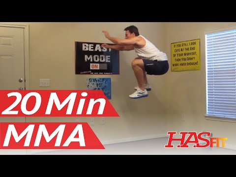 20 Minute MMA Training Exercise - HASfit Mixed Martial Arts Workout - MMA Fitness - UFC Training Image 1