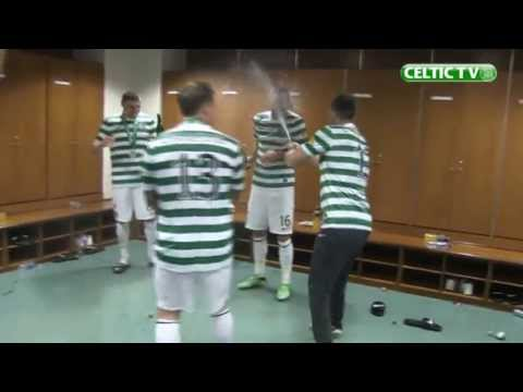 Celtic TV - SPL Champions Trophy and Dressing Room Celebrations