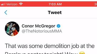 Conor McGregor Impressed By Deontay Wilder