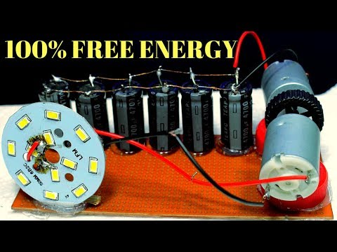 100% Free Energy Light Bulb Using Capacitor - Free Energy Light Bulbs Using Dc Motorr thumbnail