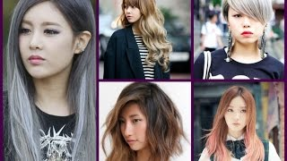 Trendy Hair Color -  Asian Girls Hairstyles
