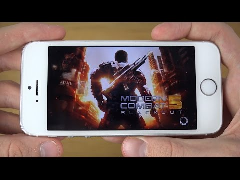 Modern Combat 5 iPhone 5S 4K Gaming Review