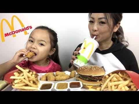 McDonald's Bacon BigMac & Nuggets Meal | Mukbang | N.E Lets Eat