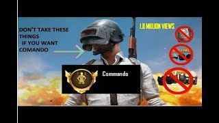 How to Get Commando  Title Achievement in PUBG MOBILE in Hindi